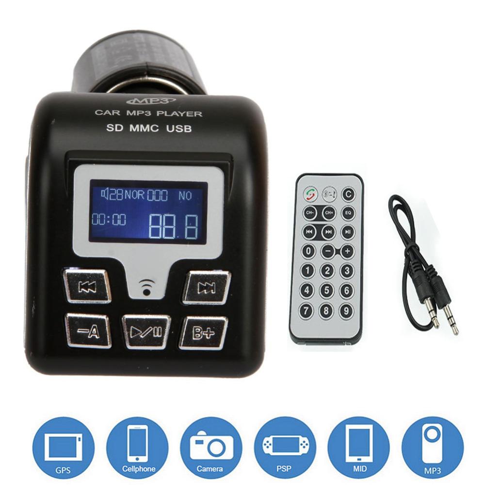 Mini Portable FM Transmitter Car MP3 Music Player Wireless Bluetooth LCD Screen Radio Car Kit Audio Player FM Modulator Adapter(China (Mainland))
