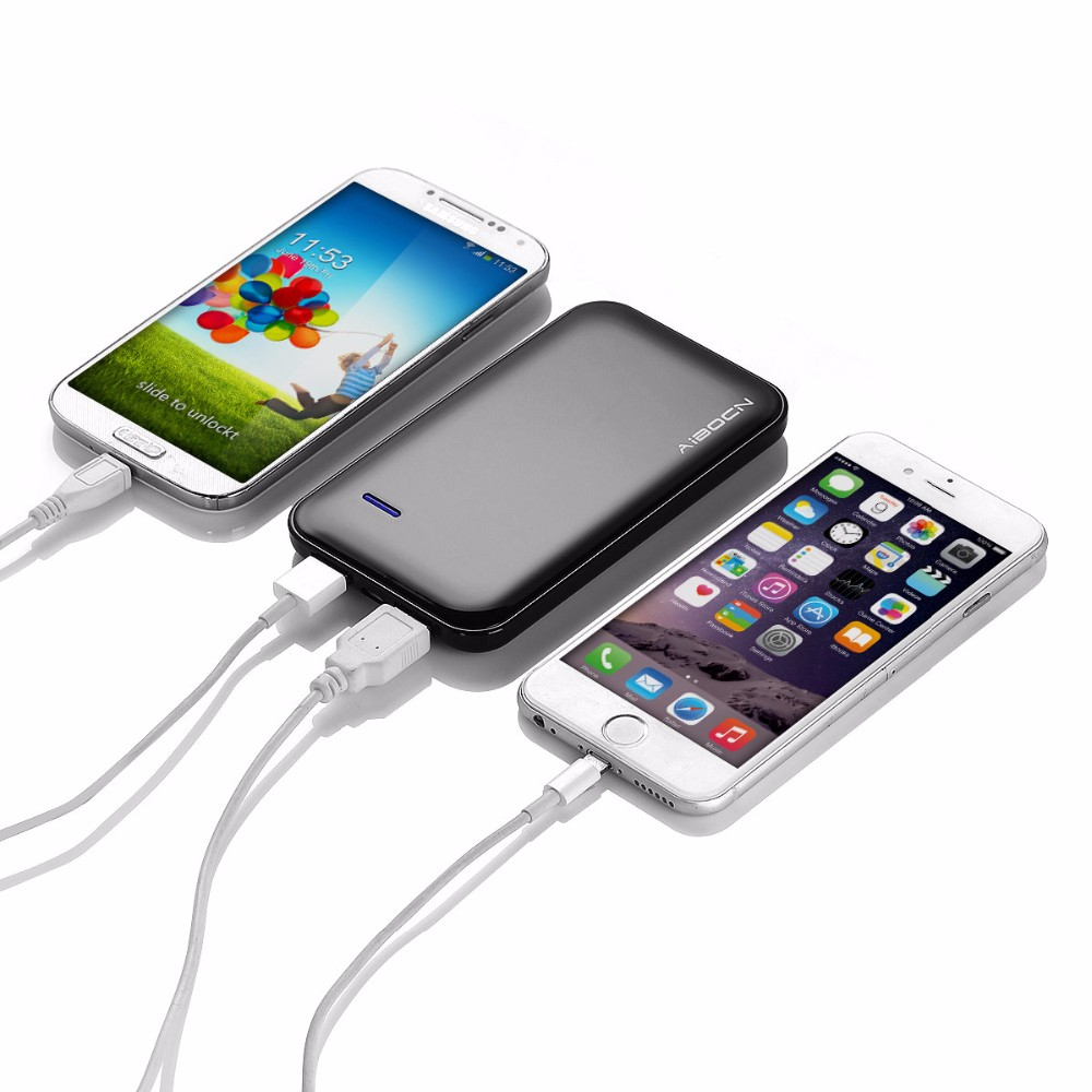 Poweradd 5000mAh Power Bank Dual USB External Battery Portable Charger For Samsung for Galaxy S6 Mobile Phone free shipping