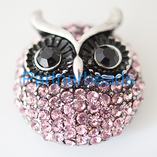 product Owl Clasps snap buttons for snaps jewelry fit ginger snaps bracelets from www partnerbeads com KB7962