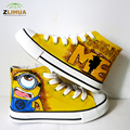 Despicable Me Minion High Top Hand painted Canvas Shoes Babys Canvas Shoes Girls Four Seasons Shoes