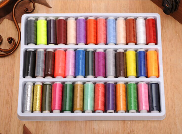39 colored polyester hand stitch sewing machine/quality DIY sewing thread(China (Mainland))
