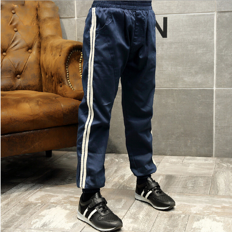 Boy's casual pants 2016 children's spring full length child sport loose pants kids autumn elastic waist trousers teenage clothes(China (Mainland))