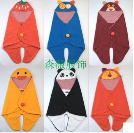 Newborn soft Fleece blankets Kids Baby Blanket Toddler Cartoon infant wrap Sleeping Bag stroller cobertor infantil manta bebe(China (Mainland))