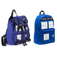 Dr Who Tardis Backpack women/men bags Doctor Who boys girls School bags Knapsack Good quality With tag In stock free shipping(China (Mainland))