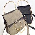 Retro Nubuck Leather Accordion Bag Womeon Vintage Hoop Chain Designer Shoulder Bag Ladies Trendy Gorgeous PU