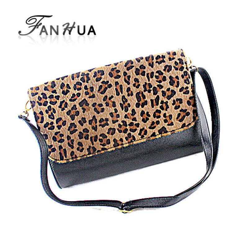 Messenger Bags Lady Shoulder Bag Soft PU Black Leopard Multifunction New 2014 Design Luxury Folding Handbags(China (Mainland))