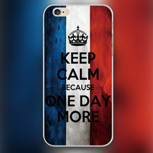 One day more words Design transparent case cover cell mobile phone cases for Apple iphone 4 4s 5 5c 5s 6 6s 6plus hard shell