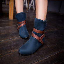 2014 Korean version of the new women boots belt buckle waterproof Bootie The fashion wild with Martin boot size 30-47 XY162