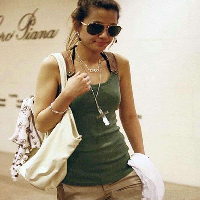 Гаджет  New 2014 Summer Blusas Women Blouse Tank Tops Fashion PU Strapless Tops Ladies Women