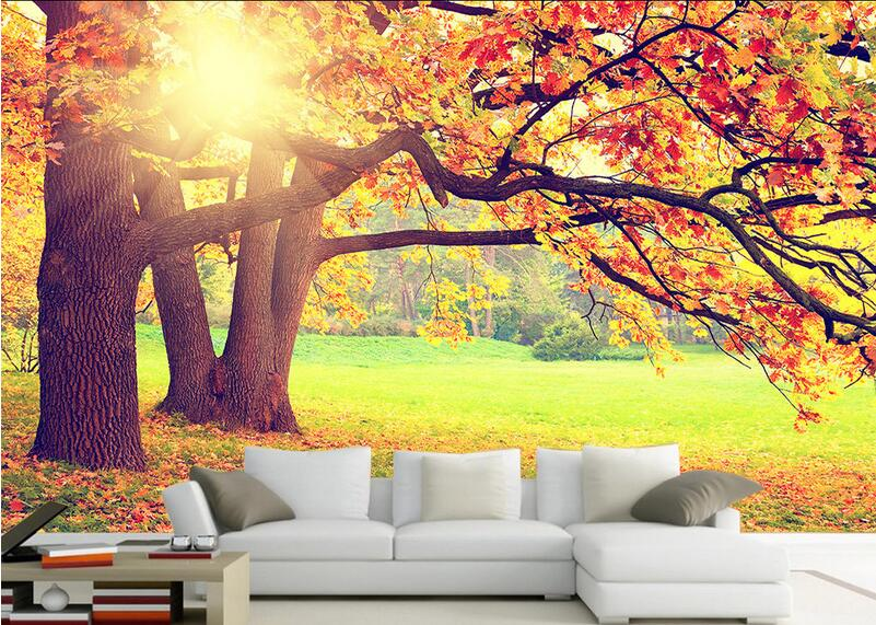 Autumn forest wall mural promotion shop for promotional for Autumn forest wallpaper mural