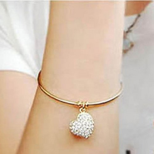 Wholesale Factory Price Free Shipping women's simple heart hollow carved bracelets SL007