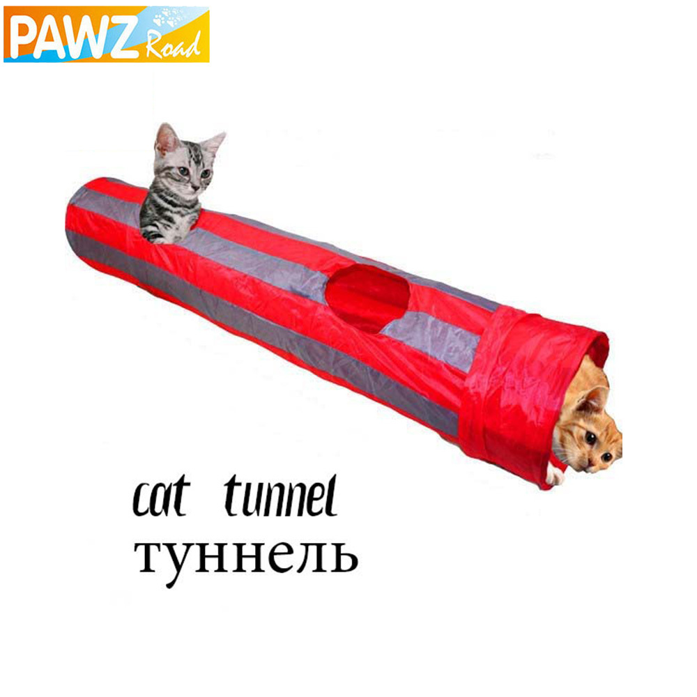 Pet Tunnel Cat Play Tunnel Red-Gray Foldable 2 Holes Cat Tunnel Play Crinkle Sound Cat Toy Bulk Cat Toys Rabbit Play Tunnel(China (Mainland))