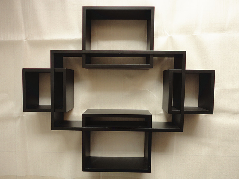 Wall Shelf wall mount bookshelf. floating display ledge shelves set of 3 wall