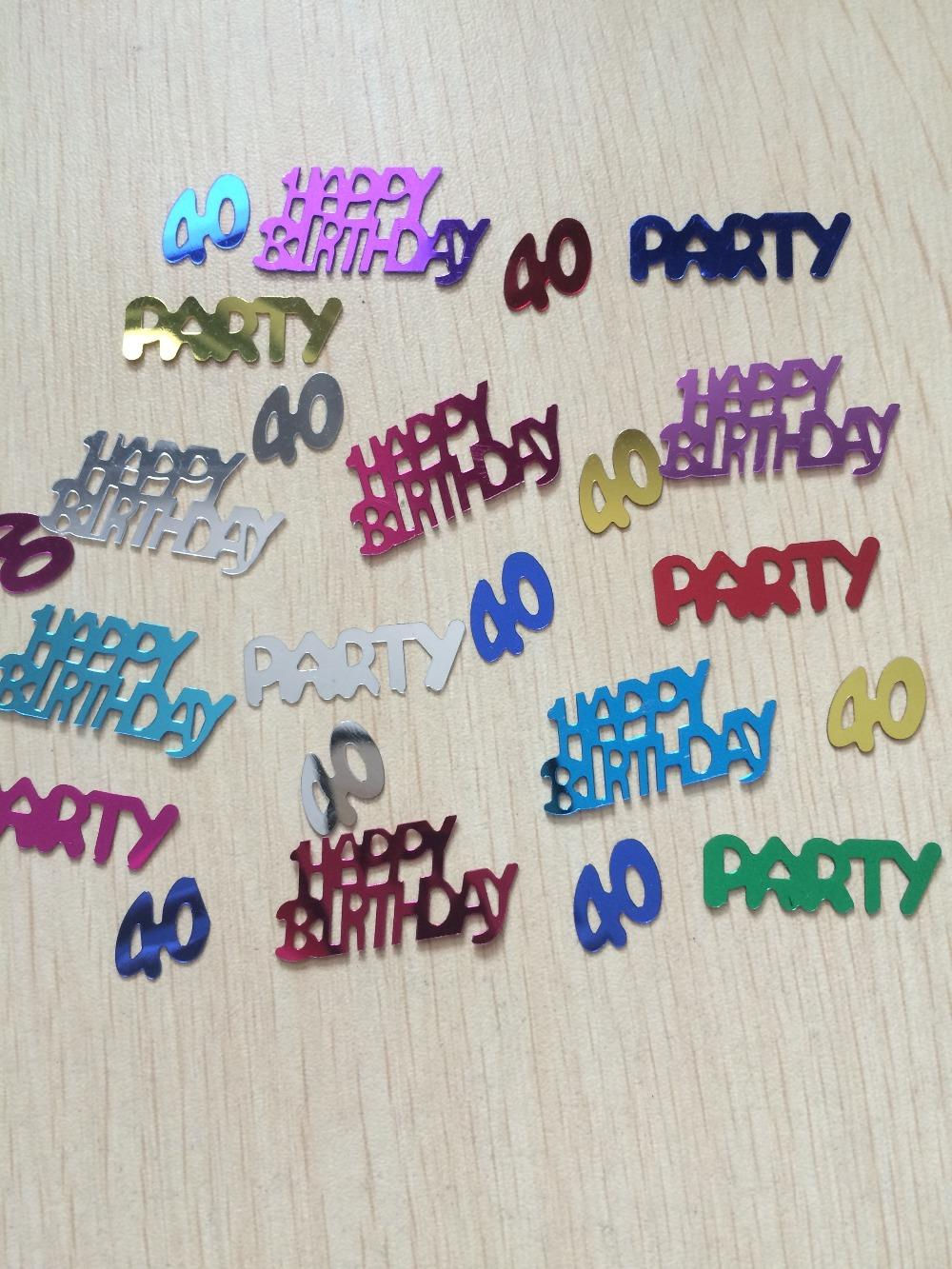 happy age 40th birthday party table scatter confetti decoration(China (Mainland))
