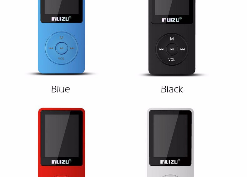 "1.8"" TFT Screen Black RuiZu X02 HiFi 4G Reproductor Sport Music Mp3 Player FM Recorder"