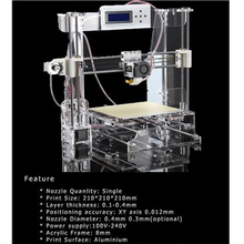 2015 New Big Acrylic Frame Reprap Prusa I3 DIY 3D Printer 3 D impressora KIT Machine