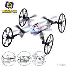 Huanqi 2.4G Mini RC Helicopter For Children Quadrocopter Model Four-axle deFormation Children Charging 1 Pcslot