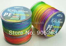 Free Shipping 1PCS 300M  PE BRAID FISHING LINE VERTICAL JIGGING multicolour braided fishing line 300m
