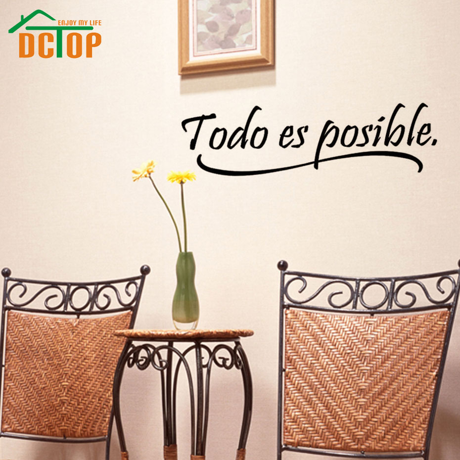 kid wall mural promotion shop for promotional kid wall mural on everything is possible spanish inspiring quotes wall sticker home decor bedroom kids vinyl wall mural decal