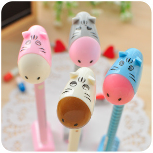 2014 New Student Baby stationery cartoon donkey standing ball point pen office stationery, creative advertising ballpoint pens(China (Mainland))