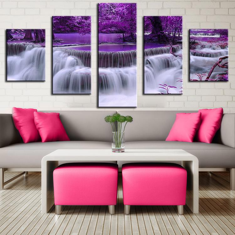 Achetez en gros violet peinture l 39 huile en ligne des for Peinture a lhuile couleur argent