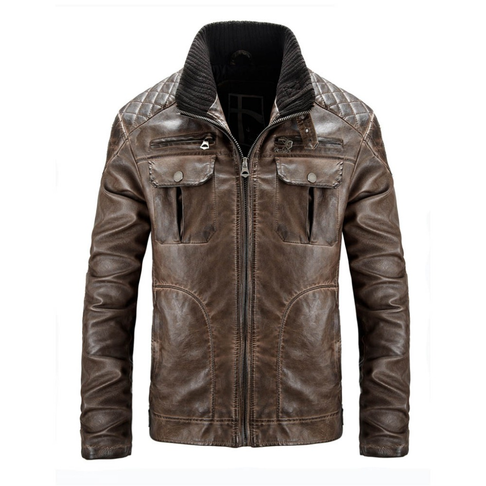 Men Leather Jacket Winter Snow Warm Casual PU Leather Motorcycle Coats Male Brand Slim Fit Trench Coats Masculina SL-E457Одежда и ак�е��уары<br><br><br>Aliexpress
