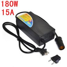 180W Power converter ac 220v(100~250v) input dc 12V 15A output adapter car power supply cigarette lighter plug(China (Mainland))