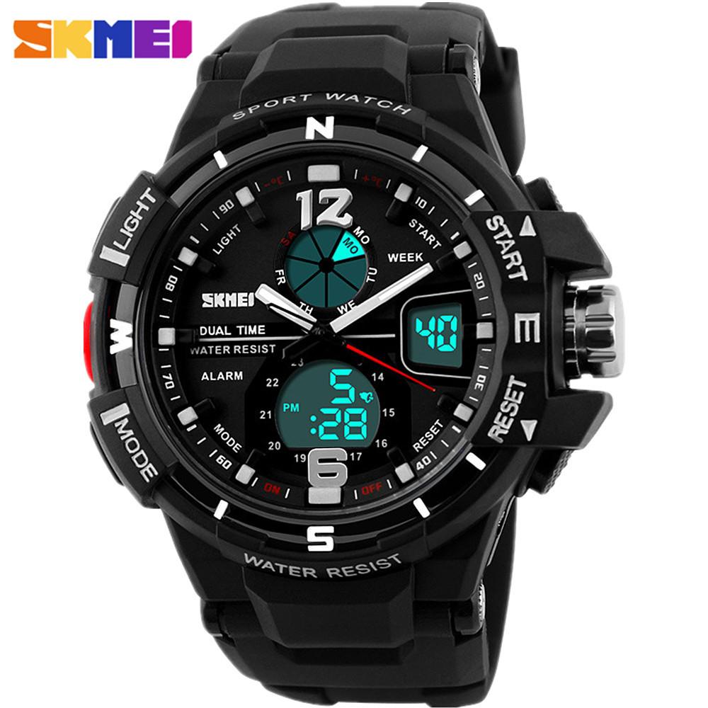 2016 SKMEI Mens Dual display Digital Watch Men Chronograph Sports Watches Fashion Casual Military Wrist watch Relogio Masculino<br><br>Aliexpress