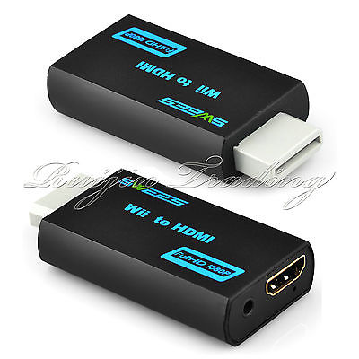 Hot Sale 720p/1080p Wii to HDMI Cable Upscaler 3.5mm Audio Jack Dongle USB Converter Adapter(China (Mainland))