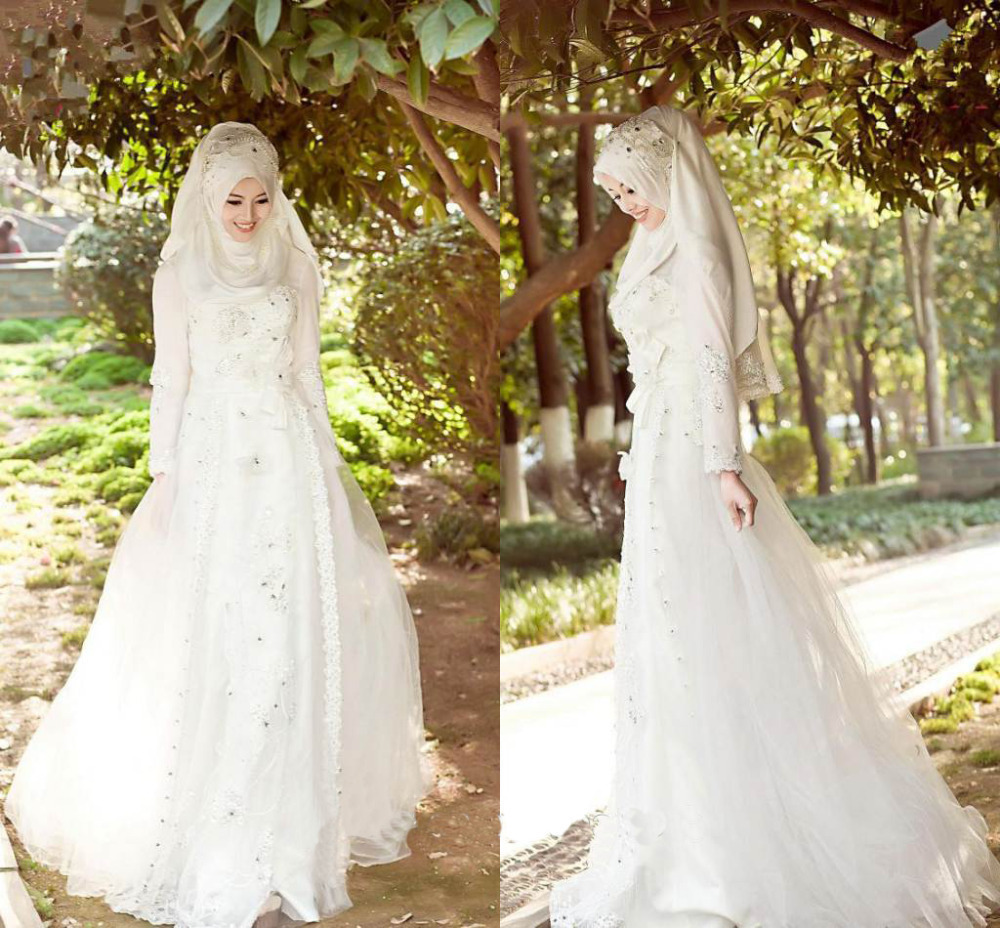 Wedding Dress Muslimah Simple : Aliexpress buy arabic muslim wedding dresses