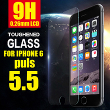 0.26mm Thin Premium Tempered Glass For iphone 6 Plus 5.5inch Screen Protector Film free for iphone 4 5 6 shipping