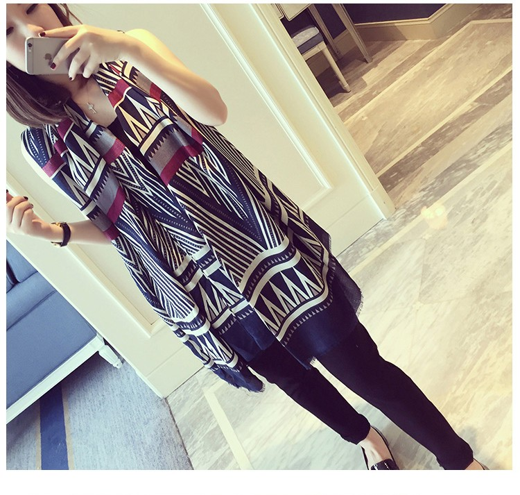 Hot Sale Winter and Spring Summer National Style Scarf Shawls Prismatic Print Scarves for Women Chiffon Brand Scarfs 3 Colors