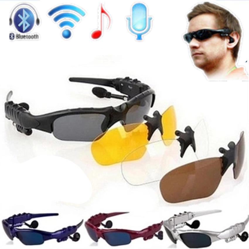 Tres conjuntos de lentes de cristales Inalámbrico Bluetooth 4 0 Auricular de Teléfono bluetooth Polarizadas de