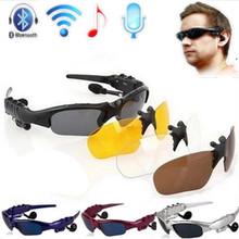 Tres conjuntos de lentes de cristales Inalámbrico Bluetooth 4.0 Auricular de Teléfono bluetooth Polarizadas de Conducción Sunglasses/mp3 Gafas de Los Ojos