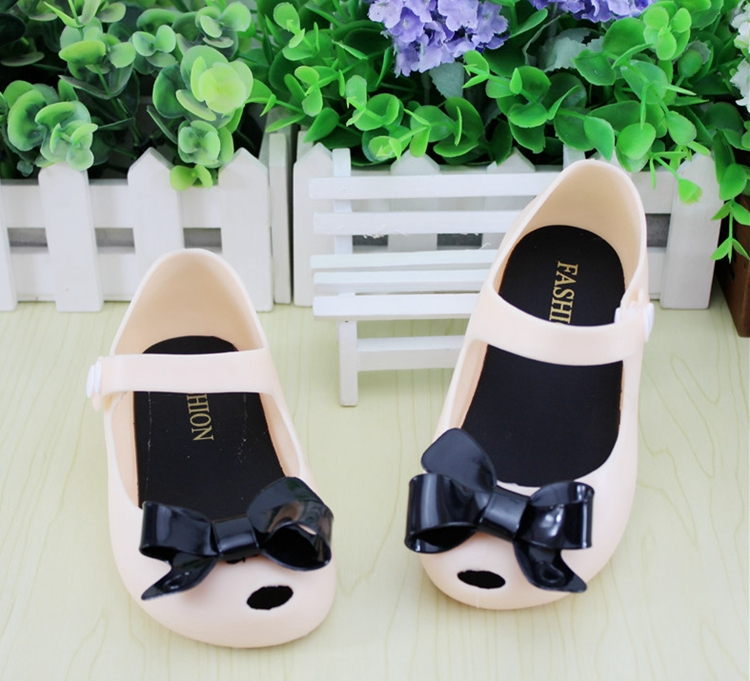 Pls Buy As Insole Length Mini Melissa kids Sandal Bowtie Soft Sole Mini Melissa shoes Candy Cat Sandals For Girls Summer TX41(China (Mainland))