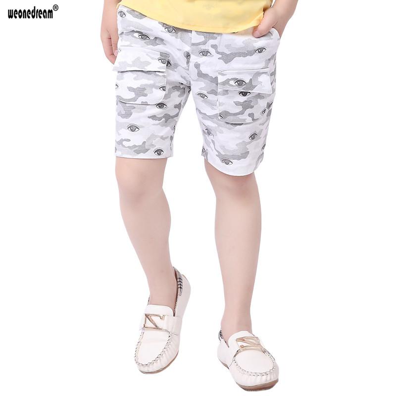 WEONEDREAM 2016 Boys Summer Pants Children Trousers Dreamlike Eye Print Boy Knee Length Short Pant Cool Trunks Kids Boys Capris(China (Mainland))