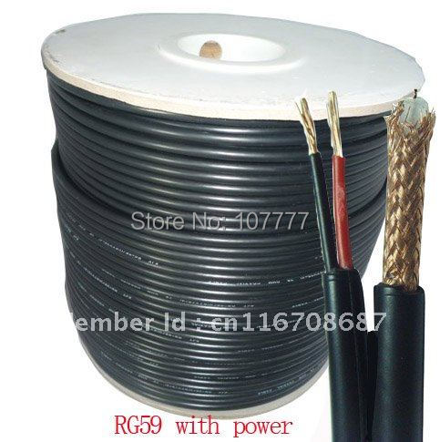 200meters rg59 coaxial cctv cable with power siamese cable(China (Mainland))