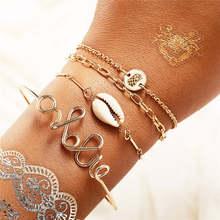 IF ME charme Vintage perles de pierre bracelet à bricoler soi-même ensemble pour les femmes Shell Infinity Star lune carte mode femme brassard bijoux 2019 nouveau(China)