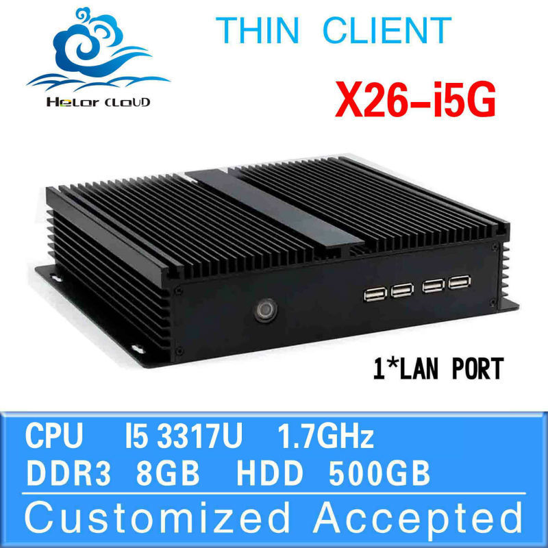 oem/odm X26-I3G 3217U 1.8Ghz 8G RAM 500gb hdd industrial pc fanless server mini pc car Haswell design aluminum chassis(China (Mainland))