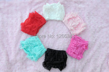 Petti Girls Ruffle Lace Bloomer Solid Color Baby Bloomer Soft Outfit Free Shipping 30pcs/lot(China (Mainland))