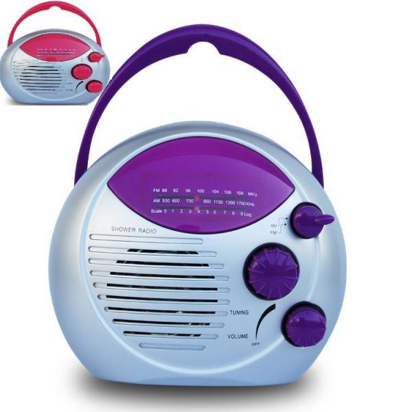 Purple AM FM HANGING SHOWER RADIO WATERPROOF IPX4 RESISTANT BATHROOM-in Radio From Consumer