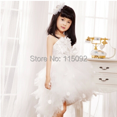 toddler ball gown little girls flower girl princess pageant interview suits party dresses for weddings gowns kids dress F001(China (Mainland))