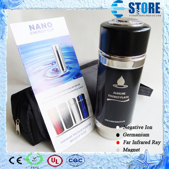 New Arrival Design 420ML Stainless Steel Water Cup Alkaline Water Energy Nano Flask Nano Energy Cup Free Drop Shipping(China (Mainland))