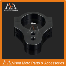 37MM Universal CNC Steering Damper Stabilizer Mounting Stanchion Bracket Fork Tube Clamp MV Agusta Moto Guzzi Motorcycle - VM parts store