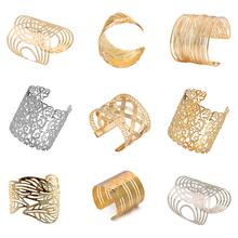 17 Kinds Women Unisex Charm Bracelets Fashion Vintage Bracelets Simple Geometric Style Pop Punk Metal Bracelet Gold Bangles(China (Mainland))