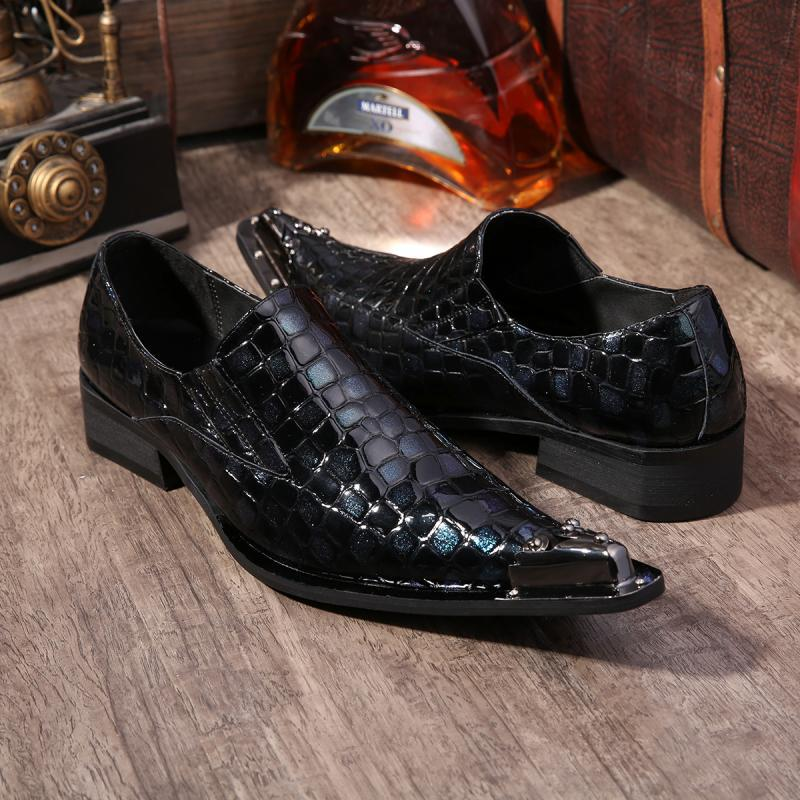Spring blue England pointed leather trend of casual mens Korean business increased crocodile leather, wedding shoes<br><br>Aliexpress