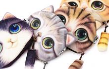 Unisex Nette Tier Cartoon 3D Katze/Hund Gesicht Tasche münze Ändern Geldbörse Geldbörse Fall Geldfach Damen Verarbeitung Ändern geldbörse(China (Mainland))