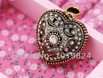100% real capacity heart personality necklace diamond jewelry USB 2.0 Flash Memory 4GB-64GB Stick Drive Thumb/Car/Pen S124(China (Mainland))