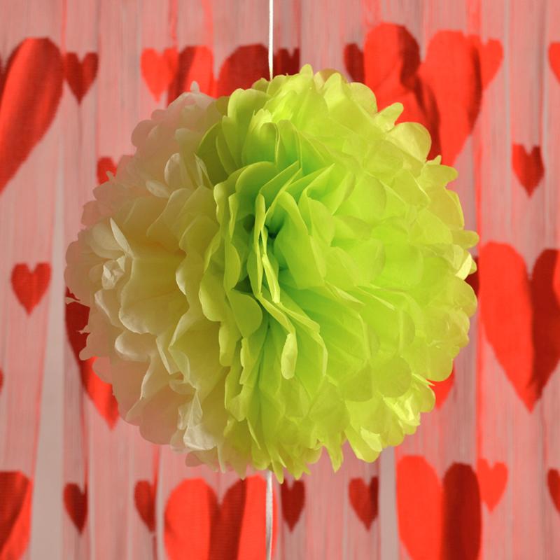 Paper Pompoms Flower Balls Crepe Paper Flower Balls Mint Wedding