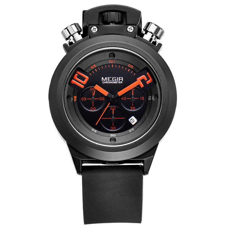 Watch-Megir 2015 MEGIR Relogio watch-M-2004 7 inch hd 2 din bluetooth car mp5 player stereo audio fm radio touch screen support aux usb tf phone auto rearview camera